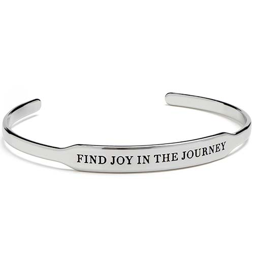 BR6004 Silver Find Joy in the Journey Happygram Bangle copy